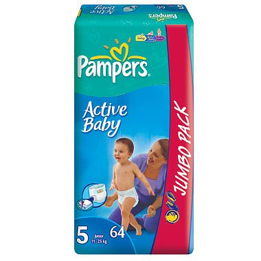 Pampers Scutece de unica folosinta Active Baby Junior Jumbo, 58 buc