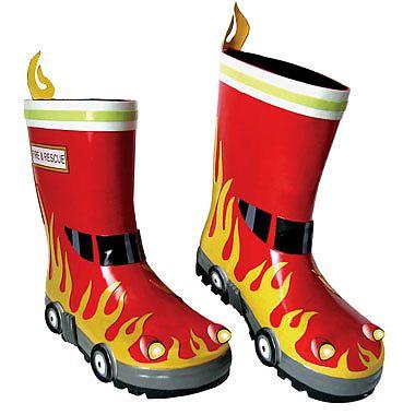 Kidorable Cizmulite din cauciuc Fireman
