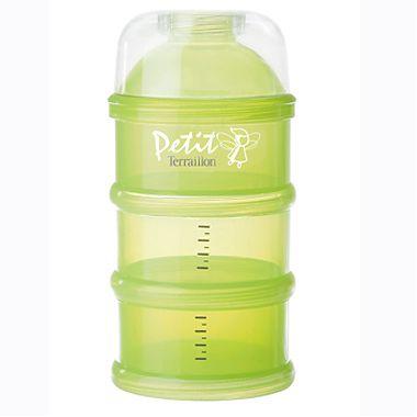 Set recipiente dozare lapte praf (verde)