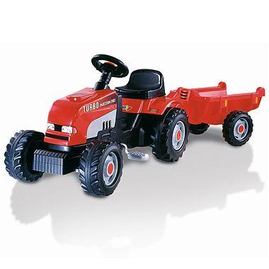 Tractor RED cu remorca de la Smoby