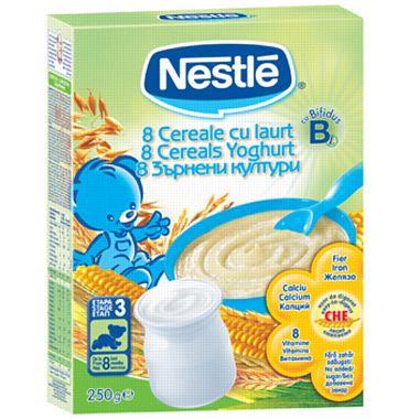 NESTLE 8 Cereale cu iaurt 250 g