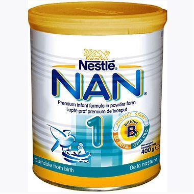 Formula de lapte pentru sugari NAN 1 400 g de la NESTLE