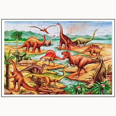 Melissa&Doug Puzzle de podea cu dinozauri