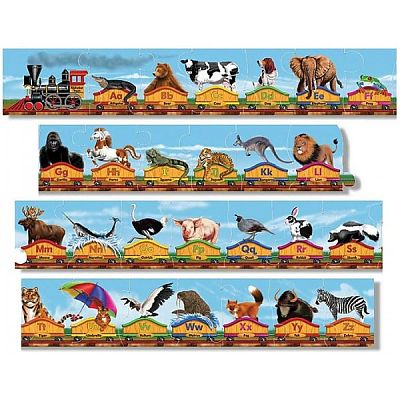 Puzzle de podea Trenul alfabet de la Melissa&Doug