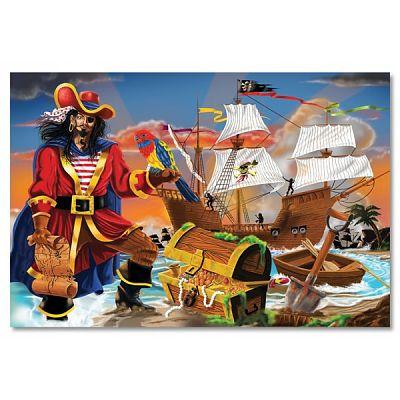 Melissa&Doug Puzzle de podea Comoara piratilor
