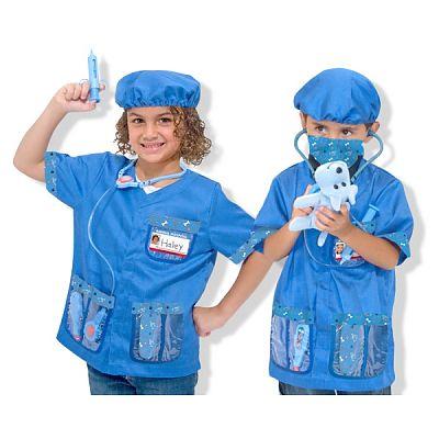 Melissa&Doug Costum carnaval copii Medic Veterinar