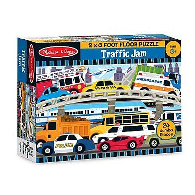 Melissa&Doug Puzzle de podea Blocaj in trafic