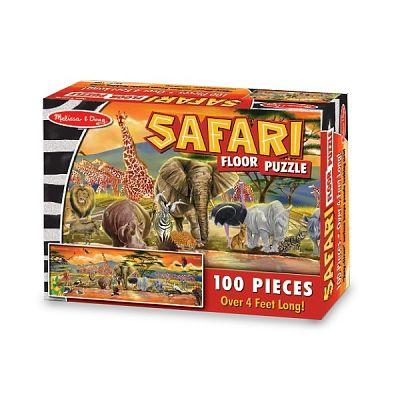 Melissa&Doug Puzzle de podea Safari 100 piese