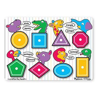 Melissa&Doug Puzzle lemn Forme geometrice