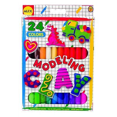 Plastelina pentru modelaj 24 culori