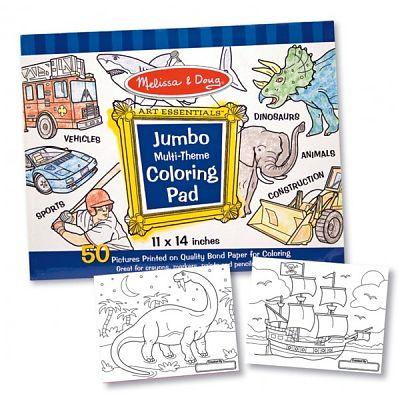 Melissa&Doug Caiet jumbo cu desene pentru colorat - Albastru