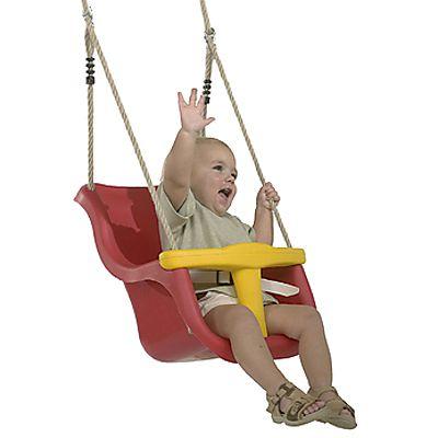 Leagan Baby Seat LUXE rosu/galben