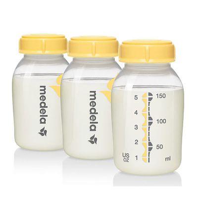 Set 3 biberoane pentru lapte matern, 150 ml