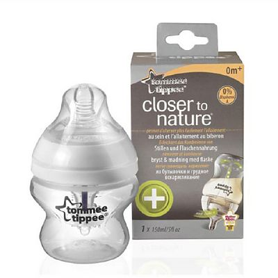Closer to Nature Biberon Anticolici Cu Sistem De Ventilatie 150 ml PP x 1 buc