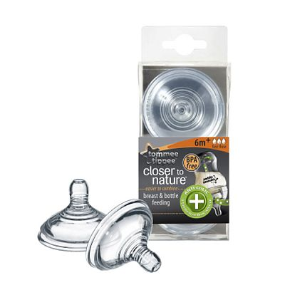 Tommee Tippee Closer to Nature Tetina Anti-Colici - flux rapid