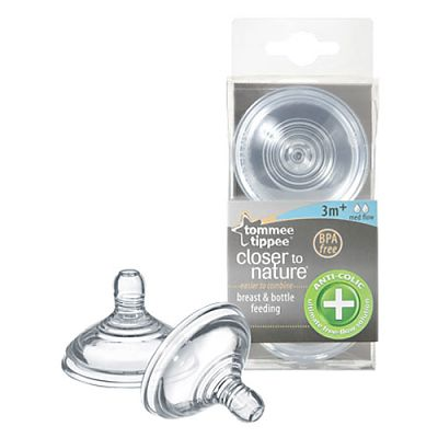 Tommee Tippee Closer to nature Tetina Anti-Colici - flux mediu