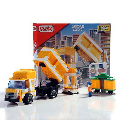 Cubix Constructii: Camion, 164 buc, 4ani+