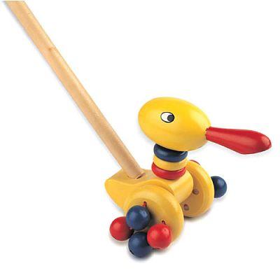 Jucarie de impins - Ratusca Mimi de la Benho wooden toys