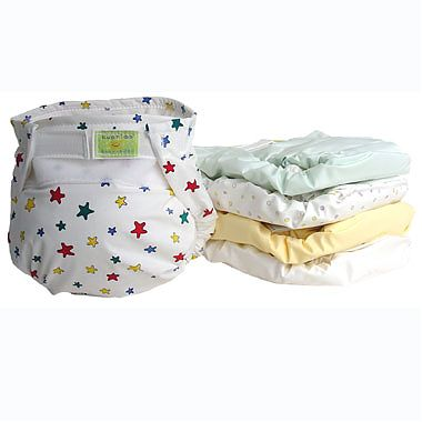 KUSHIES Pachet de 5 scutece ULTRA pentru copil (4-10 Kg) in diverse imprimeuri