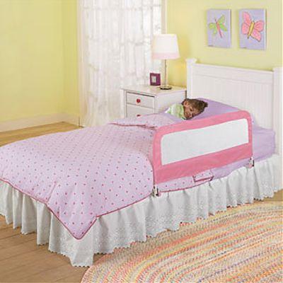 Protectie pliabila pentru pat, roz