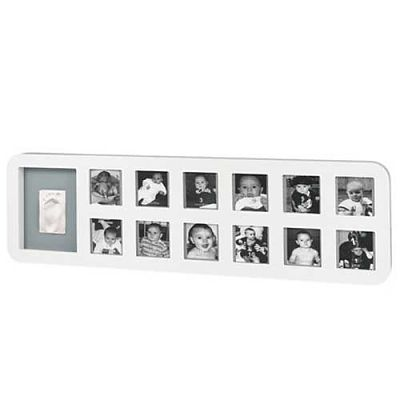 First Year Print  Frame  WHITE & GREY de la Baby Art