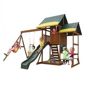 Loc de joaca Oriana Pavillion Swingset & Glider