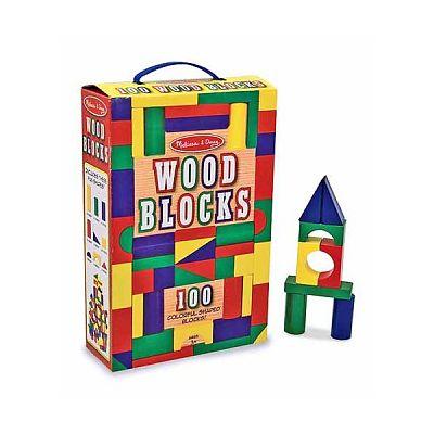 Cuburi din lemn colorate 100 de la Melissa&Doug