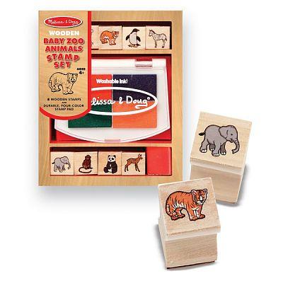 Melissa&Doug Set de stampile Pui de animale salbatice