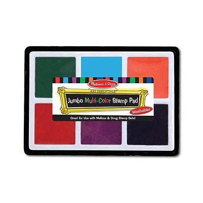 Melissa&Doug Tusiera jumbo cu cerneala nontoxica in 6 culori