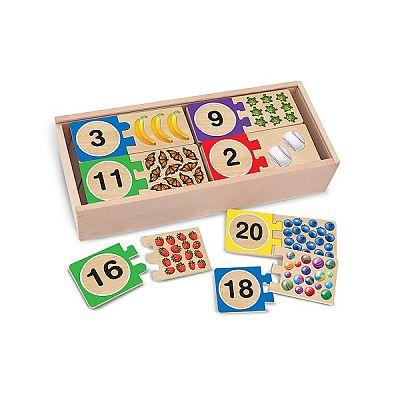 Melissa&Doug Puzzle din lemn pentru invatarea numerelor