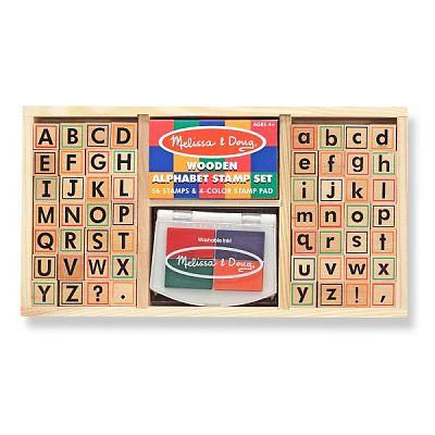 Set de stampile Alfabet de la Melissa&Doug