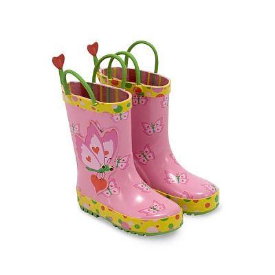 Cizme de ploaie pentru copii Bella Butterfly, marime 21-23