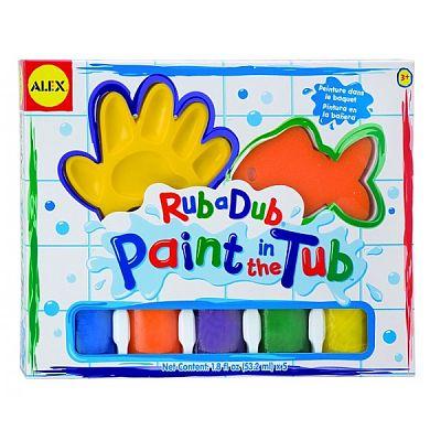 Alex Toys Set de pictura cu degetele pentru baie
