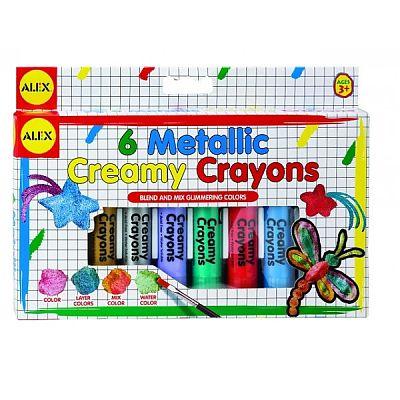 Creioane moi in culori metalice cu pensula