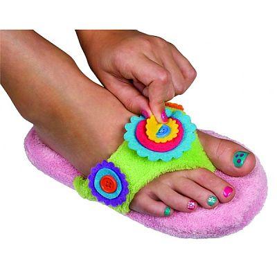 Kit pentru pedichiura cu papuci de casa L 6-8 ani Alex Toys
