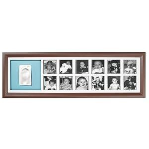 First Year Print Frame BROWN& BLUE/PINK de la Baby Art