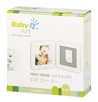 Rama - Print Frame White & Grey de la Baby Art