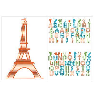 LICHIDARE STOC - Tatuaj de perete (sticker) Candide Paris de la Candide Franta