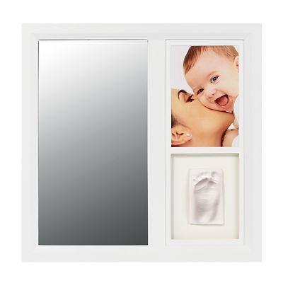 Rama cu oglinda pentru mulaj si fotografie White de la Baby Art