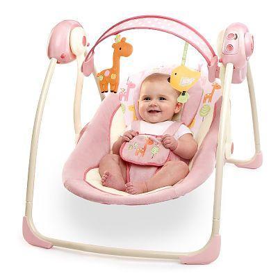 Bright Starts Balansoar Comfort & Harmony Portable Swing Girafaloo