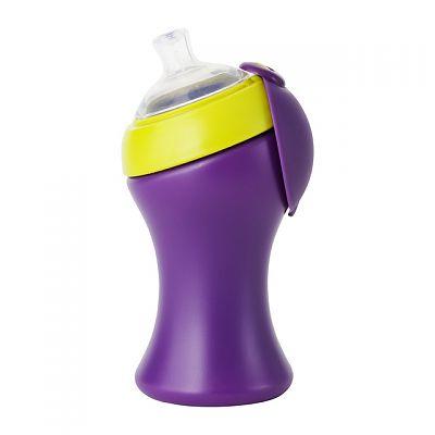 Canuta cu cioc mare Swig Tall, Green/Purple - 285 ml de la boon