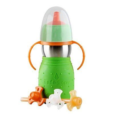 Canuta Safe Sippy 2 - 330 ml Verde de la Kid Basix