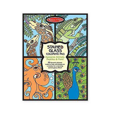 Melissa&Doug Set de colorat vitralii cu animale