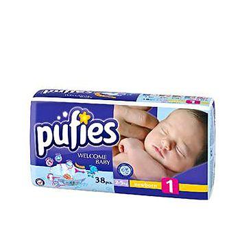 Scutece Pufies nou-nascuti cu greutatea intre 2 si 5 kg