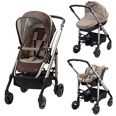 Bebe Confort Carucior 3 in 1 Trio Loola2 Walnut Brown