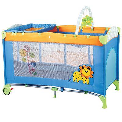 BabyGo Patut pliant cu 2 nivele SleepWell Zoo
