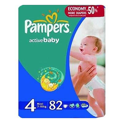 Pampers Scutece nr. 4 Active Baby Maxi, 7-14 kg, 82 bucati