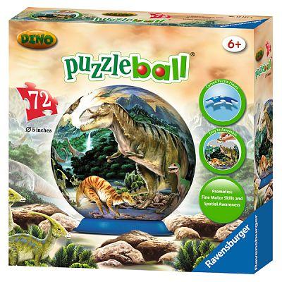 Puzzle 3D Dinozauri, 72 piese de la Ravensburger