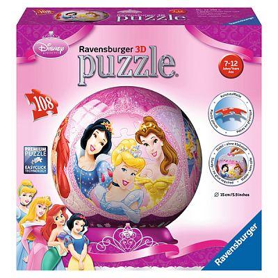 Puzzle 3D Printesele Disney, 108 piese de la Ravensburger