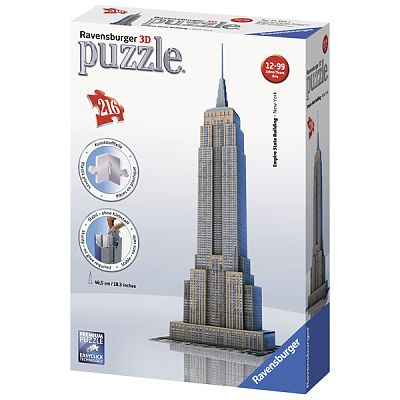 Puzzle 3D  Empire State Building, 216 Piese de la Ravensburger